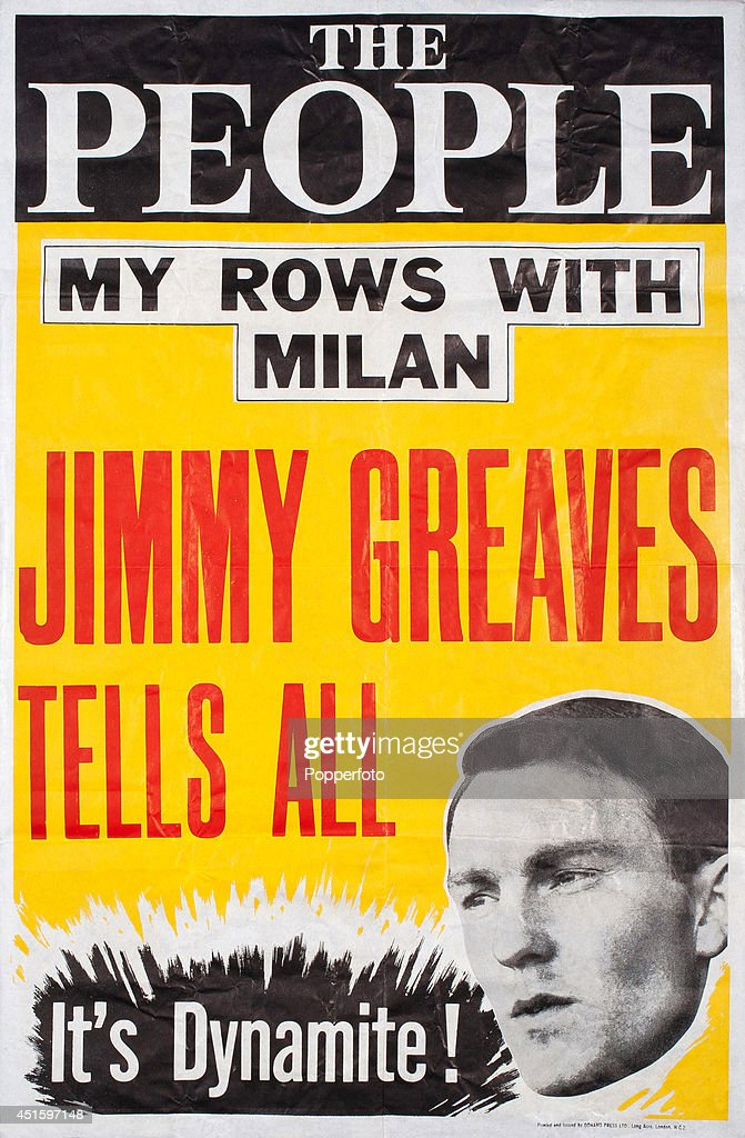 Jimmy Greaves - Vintage Poster : News Photo