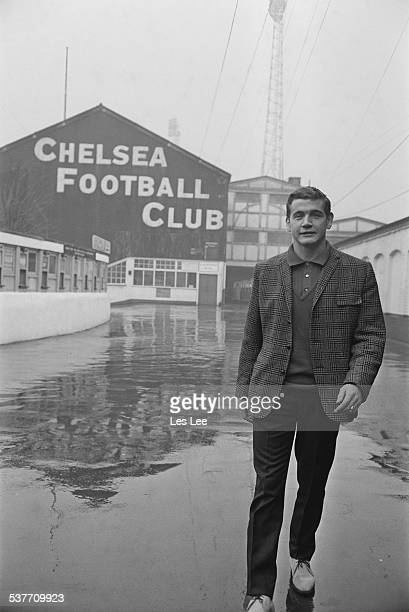 England international footballer Joe Baker outside the Stamford Bridge stadium London 30th January 1966