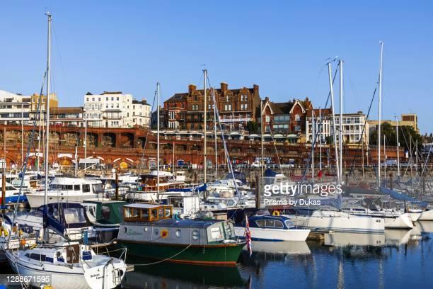 England, Kent, Ramsgate, Yachts at Anchor in Ramsgate Marina.