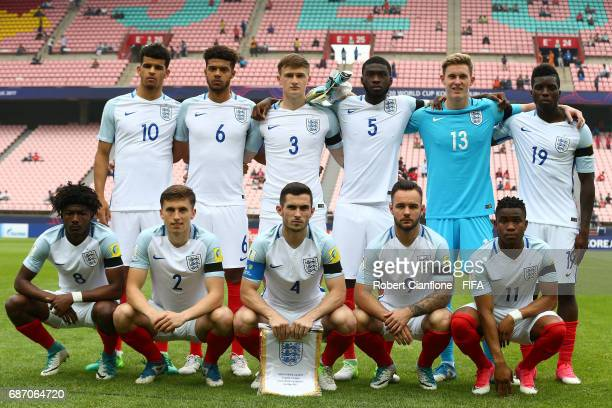 England line up during the FIFA U20 World Cup Korea Republic 2017 group A match between England and Guinea at Jeonju World Cup Stadium on May 23 2017...