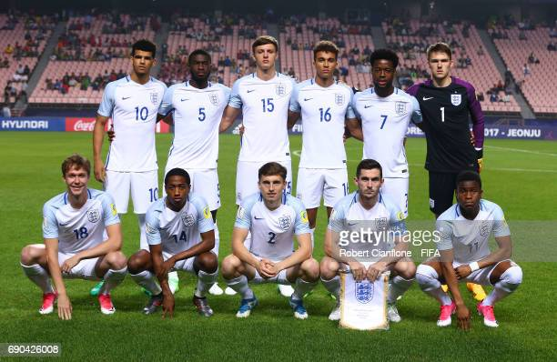 England line up during the FIFA U20 World Cup Korea Republic 2017 Round of 16 match between England and Costa Rica at Jeonju World Cup Stadium on May...
