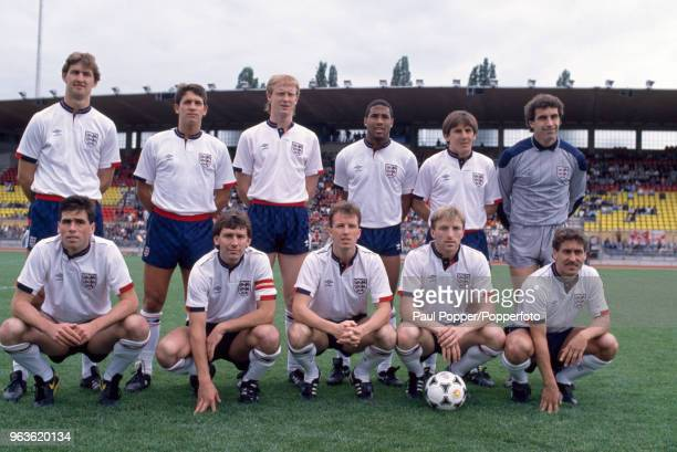 England line up for a group photo before an International Friendly between Switzerland and England at the Stade Olympique de la Pontaise on May 28...