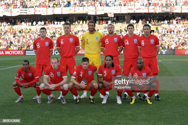 England line up for a group photo before the FIFA World Cup Round of 16 match between Germany and England at the Free State Stadium on June 27 2010...