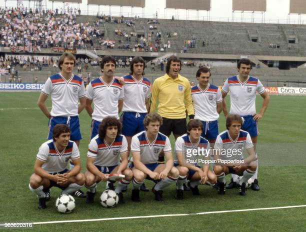 England line up for a group photo before the UEFA Euro 1980 group game between Belgium and England at the Stadio Olimpico Grande Torino on June 12...