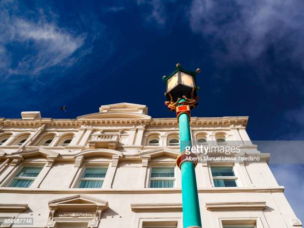 england, liverpool, chinatown - geometrical architecture stock photos and pictures