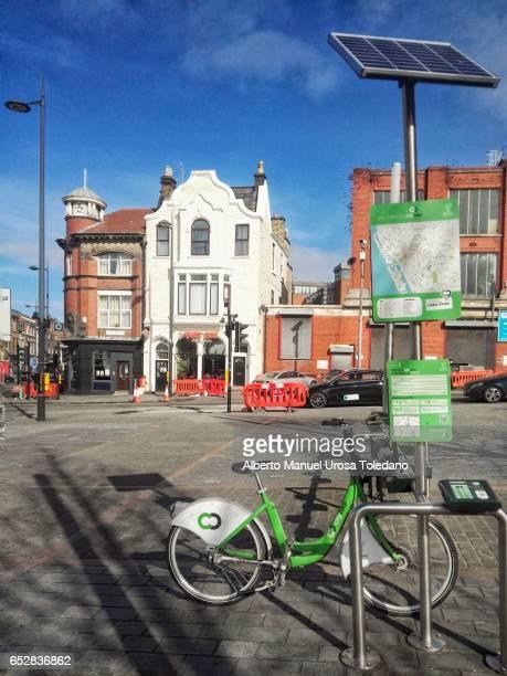 England, Liverpool, City bikes