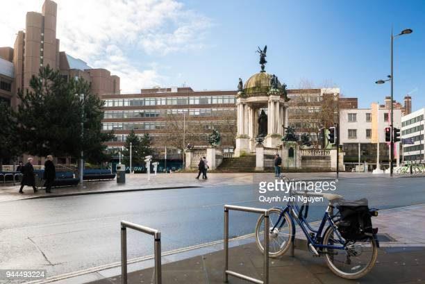 UK, England, Liverpool: Derby Square and Queen Victoria Monument