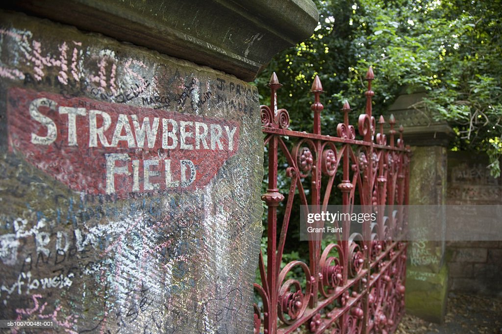 UK, England, Liverpool, Strawberry Field gate