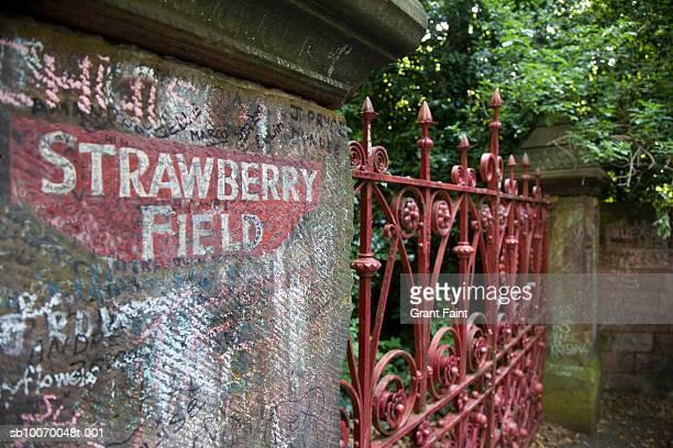 UK, England, Liverpool, Strawberry Field gate