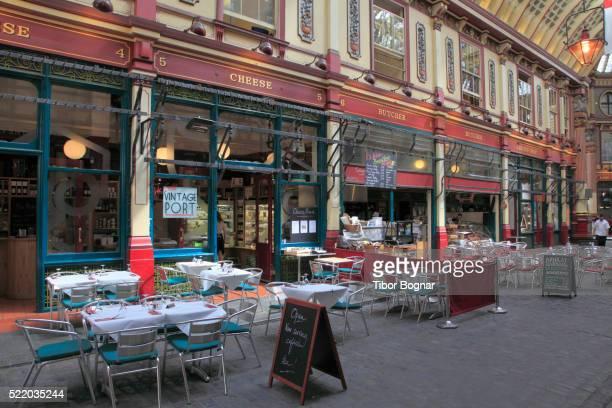 england, london, city, leadenhall market - レドンホールマーケット ストックフォトと画像