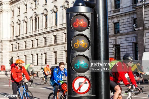England London Cycle Lane Traffic Lights