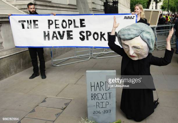 England London Election 2017 protesters out side Downing Street after Theresa May's speach09/06/17