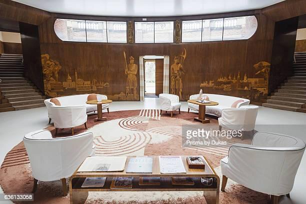 England, London, Greenwich, Eltham Palace, Reception Room.