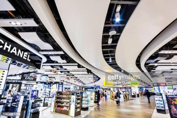 England, London, Heathrow Airport, Duty Free Shopping Arcade