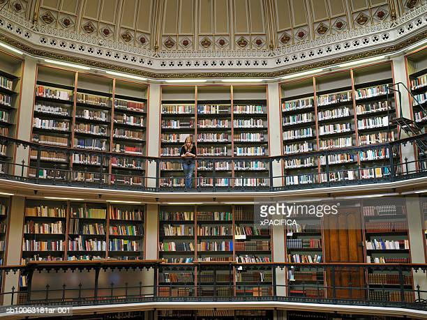 England, London, interior of Kings College Library