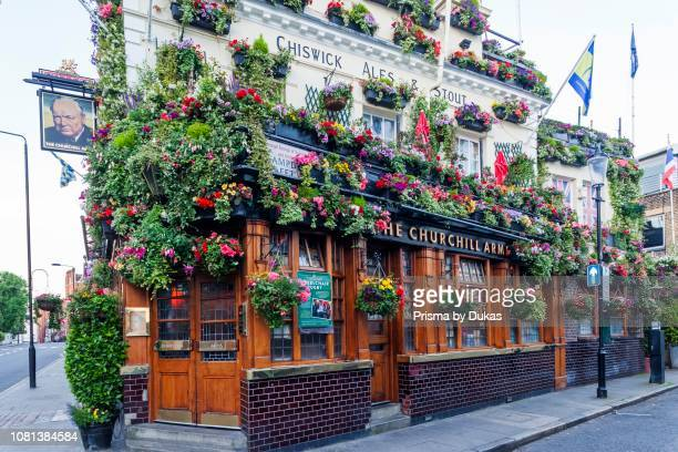 England, London, Kensington, The Churchill Arms Pub