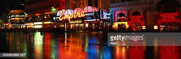 England, London, Leicester Square, night