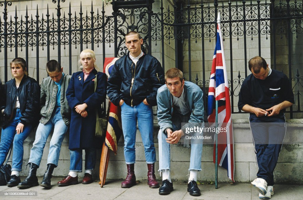 England, London, Piccadilly, National Front supporters in street : News Photo