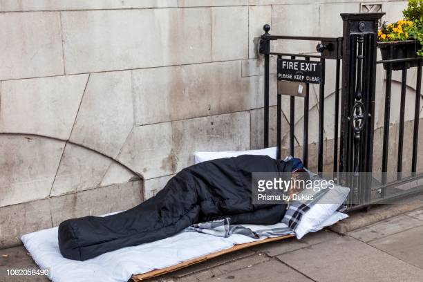 England London Piccadilly Rough Sleeper