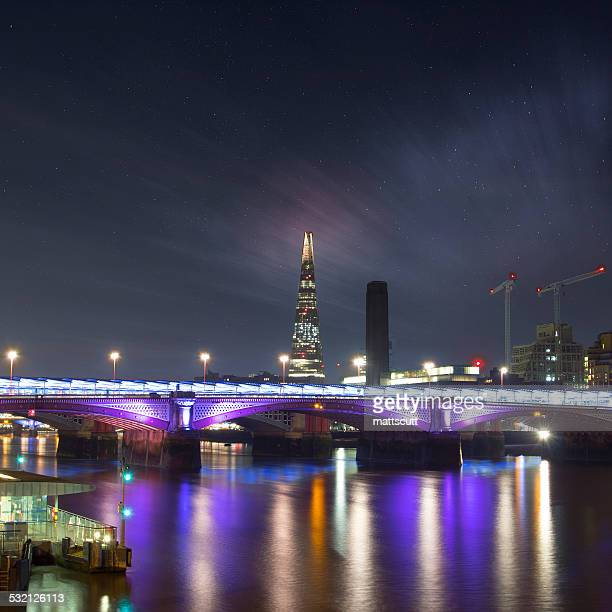 uk, england, london, shard at night - mattscutt stock pictures, royalty-free photos & images