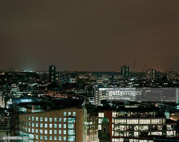 England, London, skyline at night