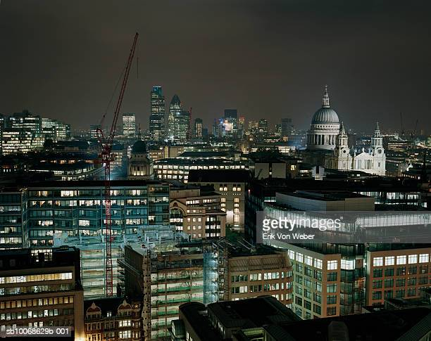 England, London, skyline at night