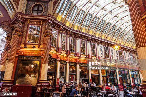 England London The City Leadenhall Market Pub Scene