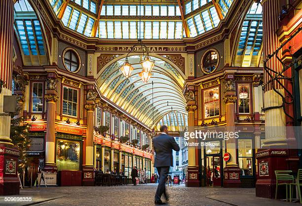 england, london, the city - leadenhall market stock photos and pictures