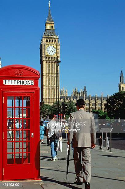 England, London, Westminster, executive beside telephone booth