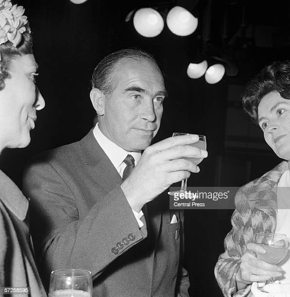 England manager Alf Ramsey attending a reception given by ITV at Elstree Studios to celebrate the teams World Cup victory 31st July 1966