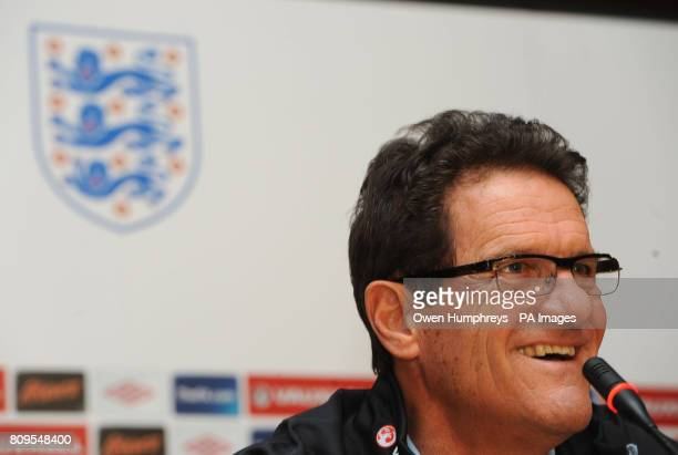 England manager Fabio Capello during a press conference at the Hotel Crna Gora Podgorica Montenegro