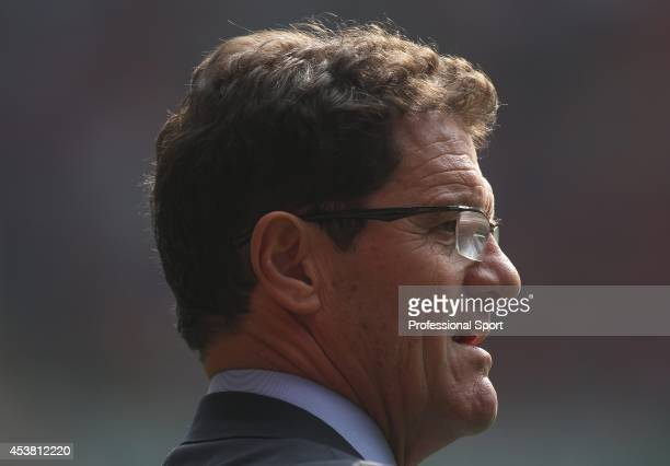 England manager Fabio Capello on the touchline during the UEFA EURO 2012 Group G qualifying match between Wales and England at the Millennium Stadium...