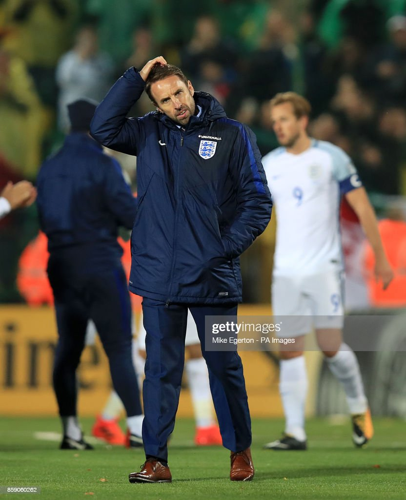 England Manager Gareth Southgate After The 2018 Fifa World Cup Qualifying Group F Match At The