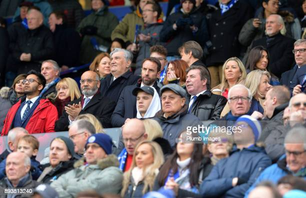 England manager Gareth Southgate at King Power Stadium ahead of the Premier League match between Leicester City and Crystal Palace at King Power...