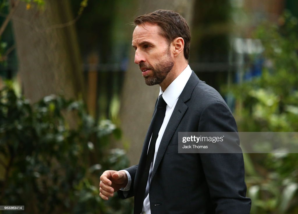 England Manager, Gareth Southgate leaves St Luke's & Christ Church after the memorial held for Ray Wilkins on May 1, 2018 in London, England.