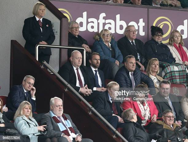 England manager Gareth Southgate watches the second half action during the Premier League match between Burnley and Leicester City at Turf Moor on...