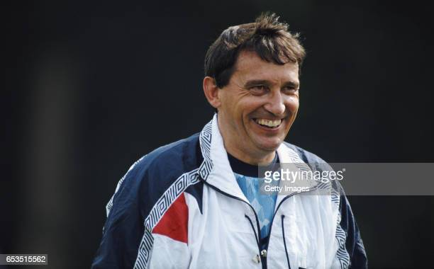 England manager Graham Taylor during an England training session on September 9 1990 in England