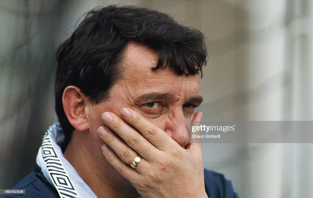 England manager Graham Taylor reacts during a UEFA Championship Qualifying match between Turkey and England in May 1991.