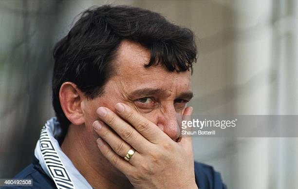 England manager Graham Taylor reacts during a UEFA Championship Qualifying match between Turkey and England in May 1991