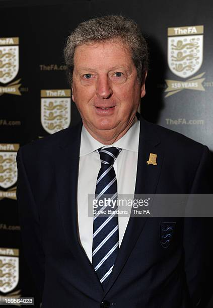 England manager Roy Hodgson attends the official launch to mark the FA's 150th Anniversary Year at the Grand Connaught Rooms on January 16, 2013 in...