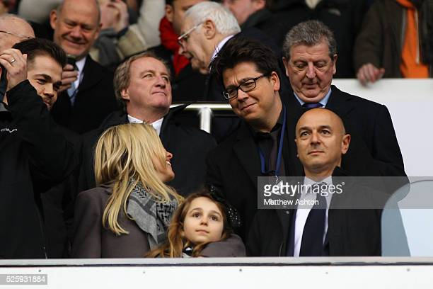 England manager Roy Hodgson behind comedian Michael Mcintyre