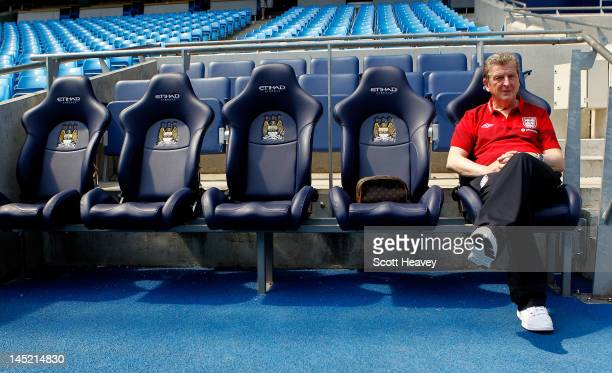 England manager Roy Hodgson during an England training session at Etihad Stadium on May 24 2012 in Manchester England