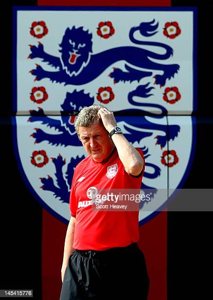 England manager Roy Hodgson during an England Training Session at London Colney on May 29, 2012 in London, England.