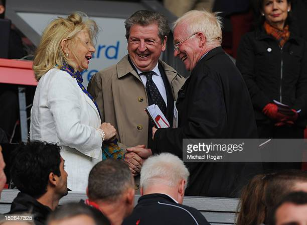 England manager Roy Hodgson looks on before the Barclays Premier League match between Liverpool and Manchester United at Anfield on September 23 2012...