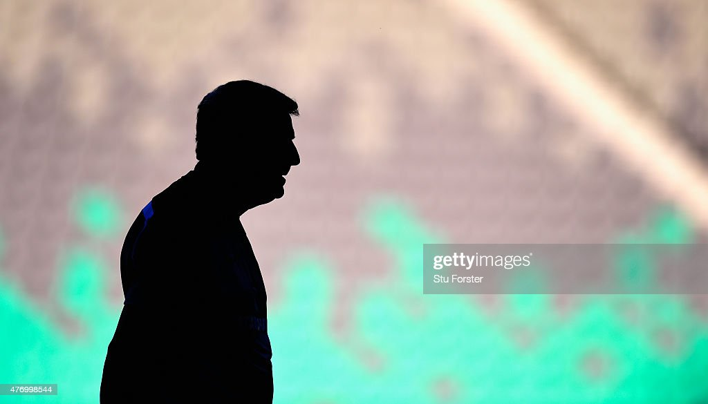 England manager Roy Hodgson looks on during England Training and Press Conference prior to sunday's UEFA EURO 2016 Qualifier between Slovenia and England at Stozice on June 13, 2015 in Ljubljana, Slovenia.