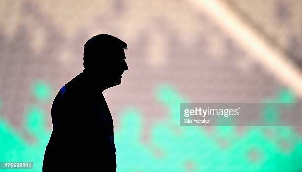 England manager Roy Hodgson looks on during England Training and Press Conference prior to sunday's UEFA EURO 2016 Qualifier between Slovenia and...