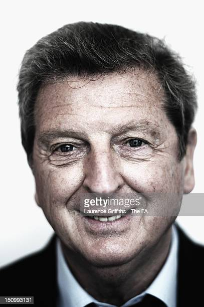 England Manager Roy Hodgson poses for a portrait prior to the International Friendly match between England U17 and Italy U17 at Pirelli Stadium on...