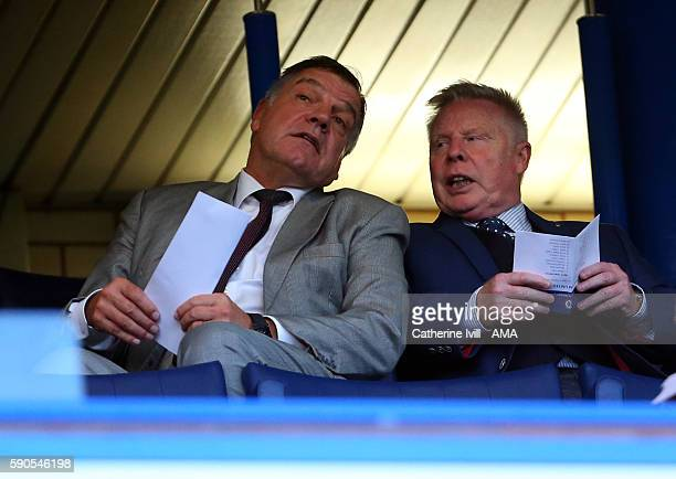England manager Sam Allardyce and assistant Sammy Lee in the stands during the Premier League match between Chelsea and West Ham United at Stamford...