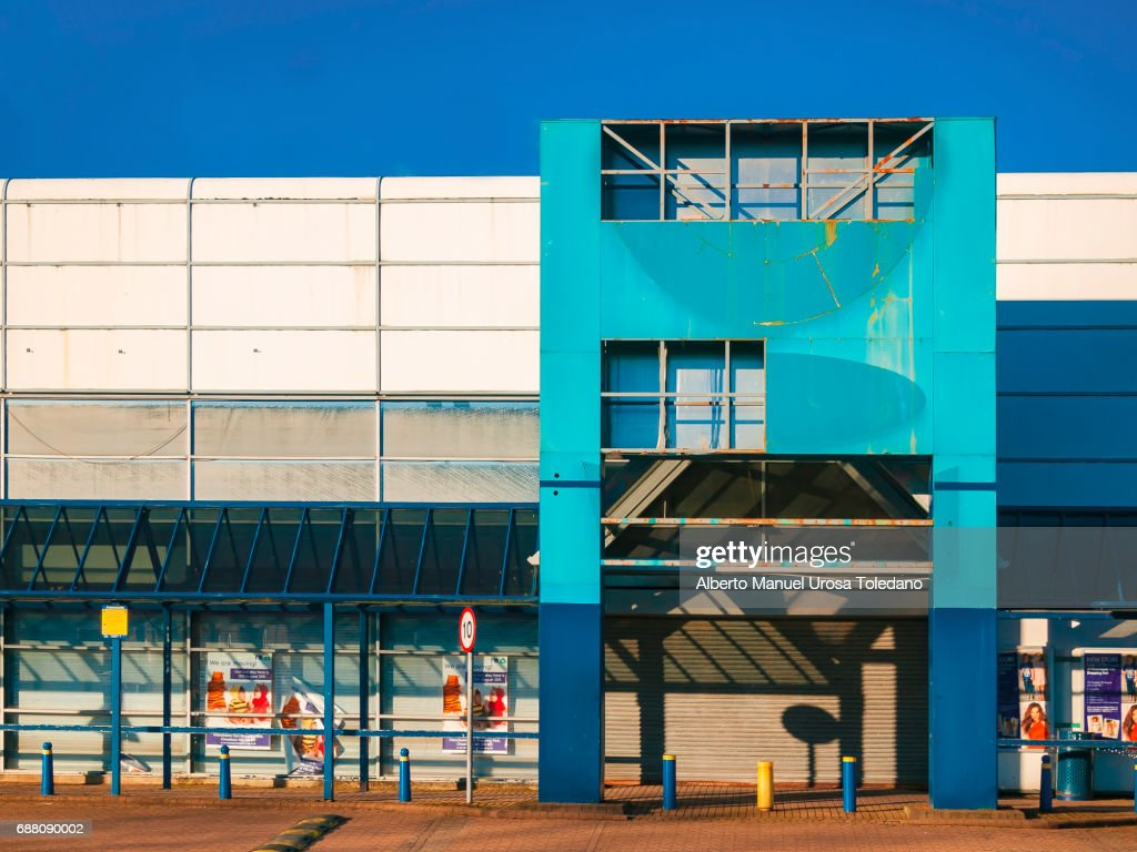 England, Manchester, Abandoned Retail Store : Stock Photo