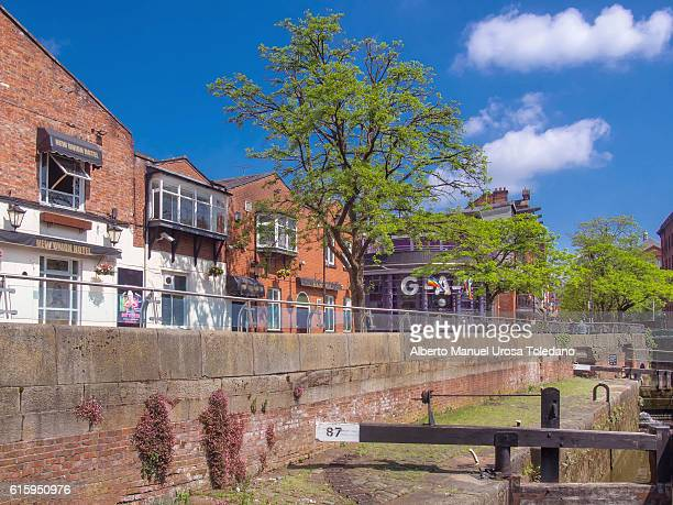 England, Manchester, Canal St. Gay Village and Rochdale Canal